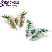 2017 NEW High-quality AAA+ zircon butterfly Brooches pins for wedding bouquets broches mujer  Lovely Animal Brooch