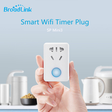 2017 Broadlink SP mini3 Wifi Smart Socket,Plug+timer+extender 10A Wireless Remote Control Smart Home Automation Via Android ios(China)
