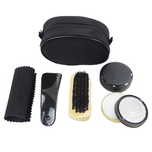 Nylon Case Shoe Shine Care Set Neutral Polish Brush Kit  for Boots Shoes Sneakers