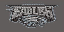 Eagle hotfix rhinestone transfer for T shirt(China)