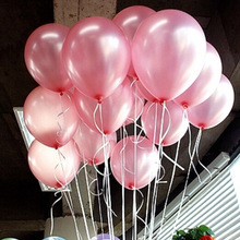 HOT SALE  100pcs/Lot 10inch 1.2g/Pc Lovely Cute Balloons Pink  LATEX Helium Ballon For Party Home Decoration Event Decoration