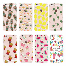 Hot Fruit Pineapple Lemon Banana Soft Silicon Transparent Case Cover For  iPhone 6 6S 4 4S 5 5S 5C SE 6Plus 7 7plus