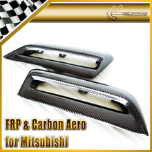 EPR Car Styling For Mitsubishi Evolution EVO 10 Carbon Fiber H2 Hood Vent (Single Vents, CS Style) Fibre Air Duct Accessories(China)