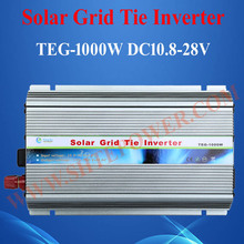 HOT SALE!! GTI 1000W Grid Tie Solar Inverter, On Grid Inverter 1KW Grid Tied Inverter, DC10.5~28V to AC190V~260V