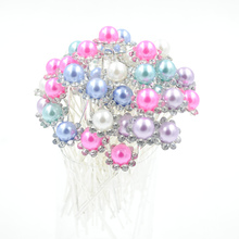 20pcs Wedding Accessories Bridal Color Pearl Hairpins Flower Crystal Rhinestone Hair Pins Clips Women Flaxen Hair Jewelry