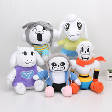 22-30CM Animation Plush Dolls For Kids gift 5styles Undertale toys Papyrus Sans Toriel Temmie plush Toys Japan Plush Peluche Lol