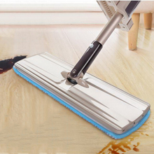 341202/Flat mop /home self - squeeze /Design of roller track/Elastic wiping design/Comfortable push and pull handle(China)