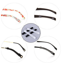 2Pairs Silicone Anti-slip Holder For Glasses Accessories Ear Hook Sports Eyeglass Temple Tip(China)