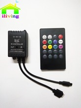 Iliving 20 key Infrared Remote IR Music LED Controller sound control mode 3528 5050 LED Strip controller