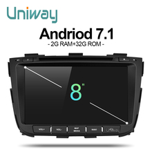 uniway ZSLT8071 2G+32G android 7.1 car dvd for kia sorento 2013 2014 car radio gps navigation with steering wheel control(China)