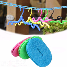 Outdoor Windproof 5m Adjustable Strength Nylon Durable Anti Slip Drying Clothes Hangers Rope Clothesline Washing Line Laundry