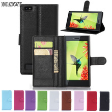 For Blackberry Leap Case Luxury Wallet PU Leather Case Cover  For Blackberry Leap Flip Protective Cell Phone Shell Back Cover