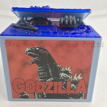 Free shipping 6pcs/lot 2016 New Godzilla Movie Musical Monster Moving Electronic Coin Money Piggy Bank Box