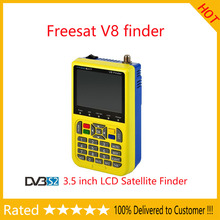 Stock now!! freesat v8 finder 3.5 inch LCD Sat Finder DVB-S2 High Definition Satellite Finder MPEG-4 Freesat satellite Finder