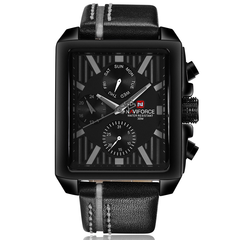 NAVIFORCE Mens Watches Top Brand Luxury Men Quartz Watch Men Leather Business Waterproof Sport Watches Relogio Masculino 2017<br>