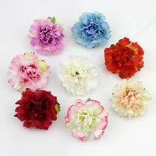50pcs/lot Approx 5cm Artificial carnation Flower Head Handmade Home Decoration DIY Event Party Supplies Wreaths(China)
