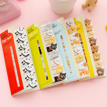 New Planner Stickers Notes Post It Memo Pad Paper Bookmarks Korean Stationery Animal Rabbit Cat Panda Cute School Supplies