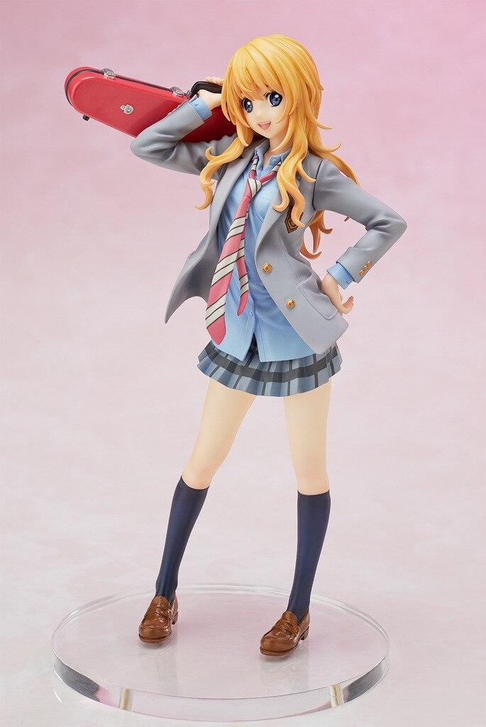 Your Lie in April Arima Kousei Miyazono Kaori Figure Shigatsu wa Kimi no Uso Violin Uniforms 20CM PVC  Action Figure Model<br>
