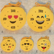 CONNED 5 Styles Plush Wallet Cute Emoji Face Pocket Smiley Money Bag Expression Key Bag Coin Purse Portable Storage Bag#XTT(China)