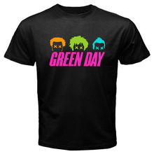 New Green Day Uno Dos Tres Rock Band Men's White Black T-Shirt Size S-2XL 2017 Fashion Short Sleeve Black T Shirt Breathable