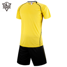 Brand SANHENG Men Soccer Jerseys Sets Customize Men Soccer Training Football Training Clothes Football Jerseys For Man 258(China)