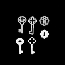 3pcs/set New Metal steel Arts and Crafts cutting die frame Keys Stencil For DIY Scrapbooking Book photo album art card template