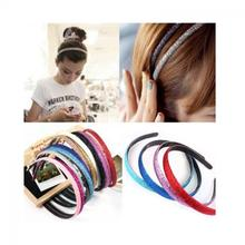 1PC New Lovely Fashion  Women's Plastic  Glitter Powder Covered Leather Headband  Attractive Hairband Hair Accessories