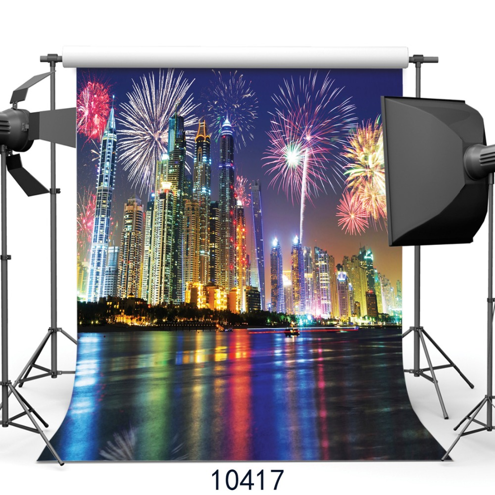 New years background City Night fireworks background Photography backdrops Photo background  Fond studio photo vinyle SJOLOON<br><br>Aliexpress