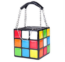 2016 personality magic cube bag portable women's style handbag bag bolsa feminina handbag(China)