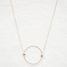 Contracted circle multicolor pendant decorative necklace Female long necklace matte black necklace