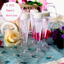 6 pcs Goblet Shape Empty Bubble Soap Bottles Home Wedding Xmas Birthday Party Decor