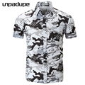 2018 Short Sleeve Mens Hawaiian Shirt Male Casual Camisa Masculina Flower Print Beach Summer Shirts Brand Clothing Men Plue Size 8