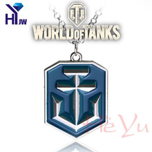 HEYu Fashion Online Game Necklace World of Tank WOT World of Warships Gaes Antique Enamel Statement Pendnet Necklace Jewelry