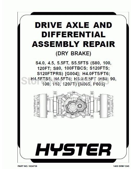 Hyster Class 5 Internal Combustion Engine Trucks - Pneumatic Tire Repair Manuals 2013 (HTML+PDF)<br><br>Aliexpress