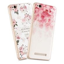 3D Relief Print Transparent Soft TPU Back Cover Case For Xiaomi Redmi 4A Moblie Phone Bag Coque Hot New Style