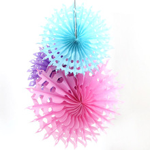 "10PCS 10""(25cm) Hot!Hollow Paper Folding Fan & Snowflake Paper Fans For Wedding Party Decorations Supplies 12 Colors"