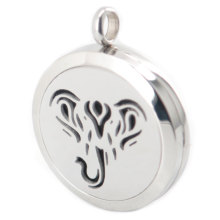 Silver Jewelry  New Design  Elephant  Aromatherapy Essential Oils Stainless Steel pendant Perfume Diffuser Locket Necklace