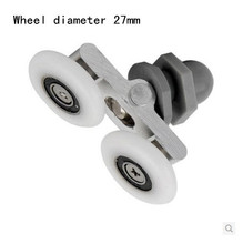 Wheel diameter27mm Glass shower door roller pulley High quality nylon(China)