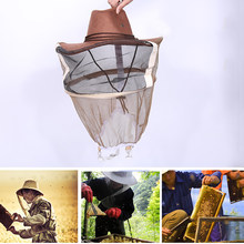 Outdoor Anti Mosquito Hat Mesh Head Net Face Cover Shawl For Beekeeper S0P7