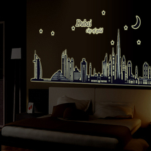 New product Luminous dubai silhouette sitting room bedroom home decoration wall stickers in the wall to stick on the wall
