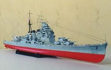 World War II Japanese Kongo class Battlecruiser diamond class ship No. 3D Kaohsiung paper model DIY