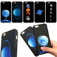 Anti-Fingerprint Universe Planet Space Moon Venus Matte Oil Black Cover For iPhone 6 6Plus 6splus Back Case Fundas Capa