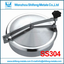 300MM SS304 Circular manhole cover,Sanitary manway door for tank ,Height:100mm(China)