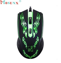 Beautiful Gift New1500DPI LED Optical  USB Wired Gaming Mouse for Computer Game Gamers Wholesale price Jan08