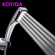 KOYIDA hand hold Water Saving Shower Head high pressure 300 Holes Square ABS with chrome single head Rainy Nozzle je01(China)