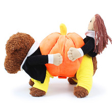 New Funny Dog Costumes Halloween Novel Pumpkin Pet Coat Small Dog Super Cute Costumes Fancy Pet dog Clothes