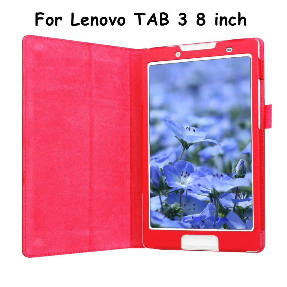 Tab3-850m 2016 New Tab3 A8 High Lenovo TAB 3 8 inch Tablet Case Litchi PU Leather Case Flip Cover +Gift