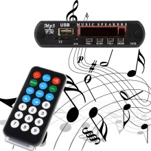 New MP3 Decoder Board Hitam Remote SD MP3 Player Ztv-m011 Remote Control Module FM Usb 2.0 3.5 mm keluar jack