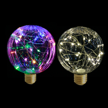Fairy Lights Christmas LED String Light Bulb E27 85-265V Decorative RGB Lamp Garlands New Year Products for Parties(China)