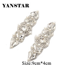 YANSTAR 10PCS Wholesale Rhienstone Applique Bridal Sash Beads On For Wedding  Dress Belt Accessories DIY Bridal Sash YS904 235a5efe1c4c
